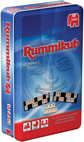 Jumbo 03817 Original Rummikub Kompakt in Metalldose