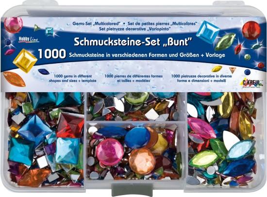 Hobby Line Schmucksteine bunt