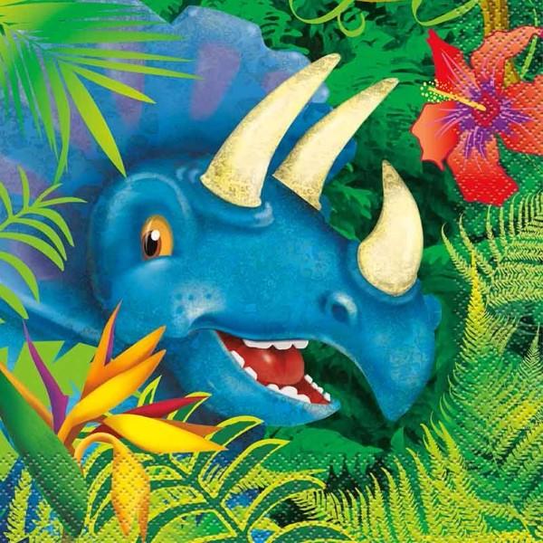 Dinosaurier Servietten 33x33 cm 16 Stück