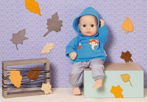 Dolly Moda Sport-Outfit Blau, Gr. 36cm