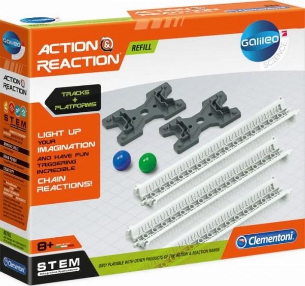 Clementoni Action & Reaction - Schienen und Rampen