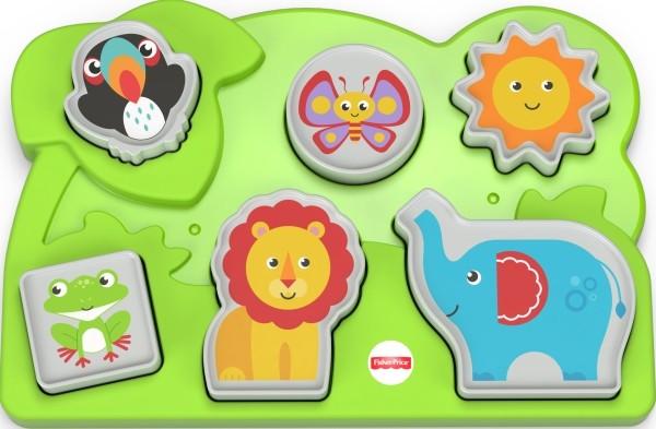 Mattel GCM81 Fisher-Price® Dschungel-Tierpuzzle